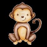 Watercolour monkey